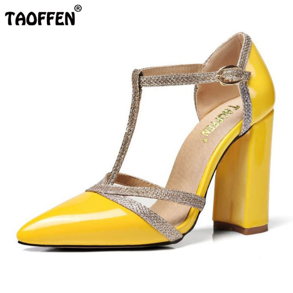 824c7377f11 Shoes - Lady High Heel Sandals Women Ankle Strap buckle Sandal Office  Summer Shoes