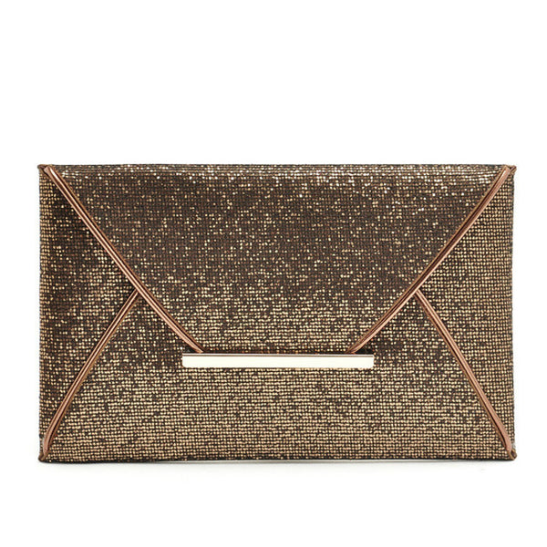 2018 Woman's luxury brand Evening Party Gold Sequins Envelope Bag