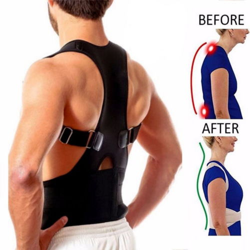 Corrector - 2018 New Style Magnetic Back Pain Relieving Belt Posture Corrector