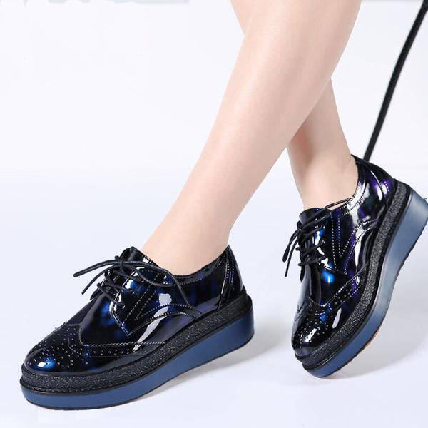 a0f94fb0317 Shoes- Women s Patent Leather Lace Up Shoes – styleNB