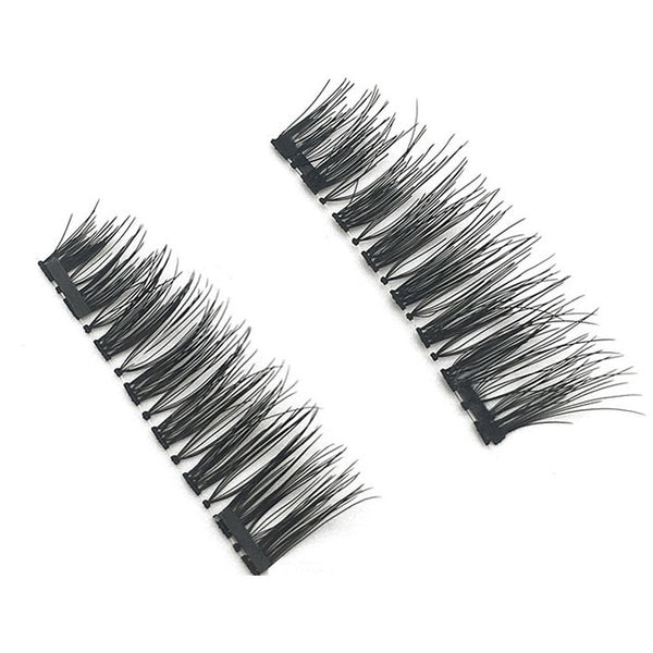 Beauty & Health - 3 D Double Magnet Full Strip Magnetic Lashes Soft Hair Reusable Fake Eye Lashes