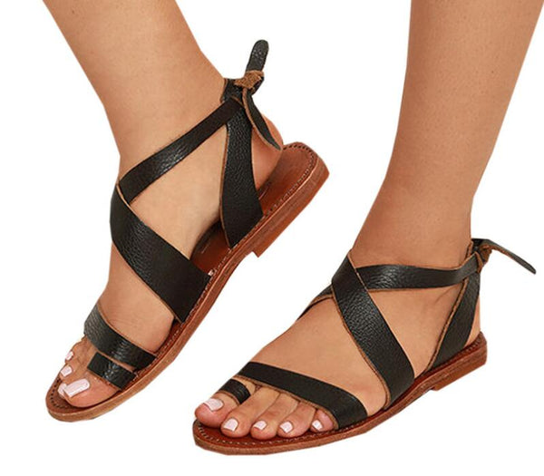 1d2f18f3b48 Sandals-Women s Fashion Ankle Strap Leather Sandals – styleNB