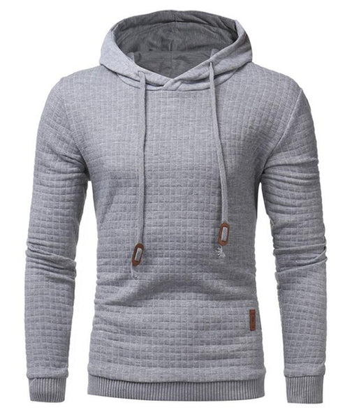 2018 Brand Male Long Sleeve Solid Color Hooded Sweatshirt Mens