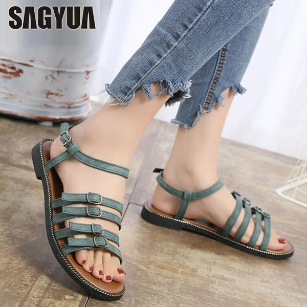 41762465497 Woman s Summer Casual Gladiator Strape Buckle Sandals