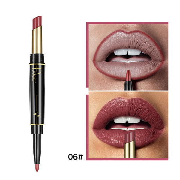 Beauty & Health - 16 Color New Double Ended Sexy Lasting Matte Waterproof Lipliner and Lipstick Pencils