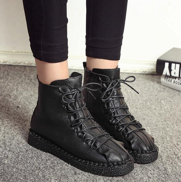07c500136fb Women s Shoes - 2018 Handsome Thick Belt Buckle Martin Boots – styleNB