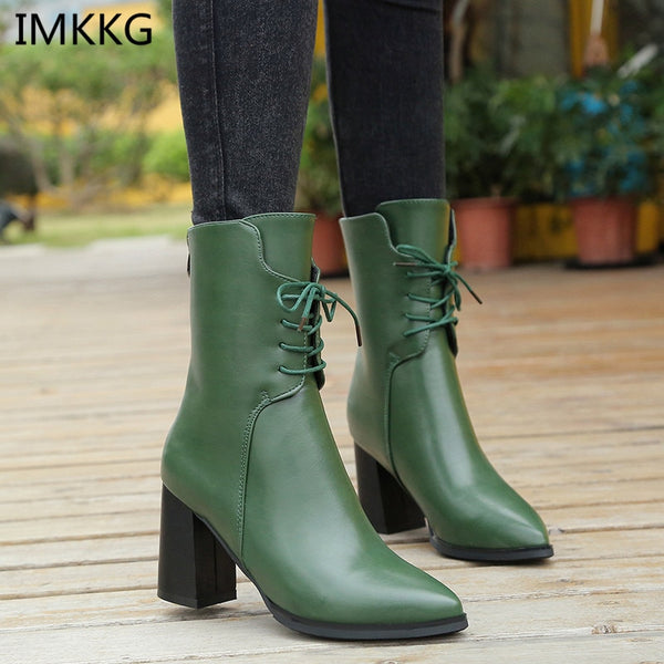 91beb88fb54b Women s Shoes - Fashion Women Boots Style Lace Up Waterproof Platform Ankle  Boots