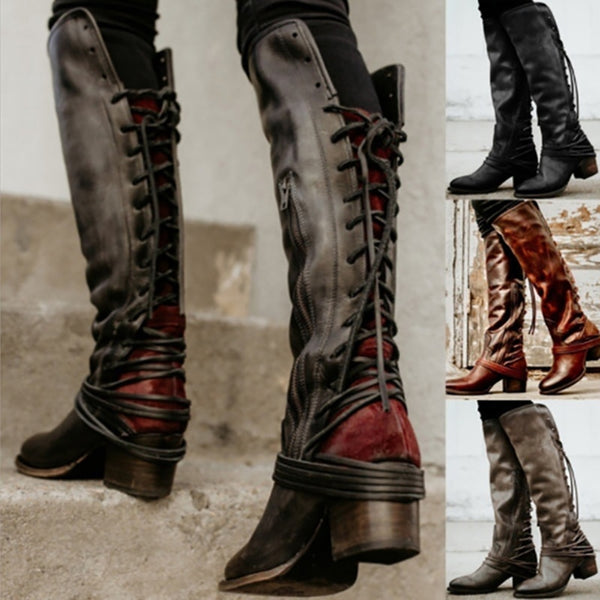 0b1a35b9c853 Women s Shoes - Women s Vintage Knee High Boots