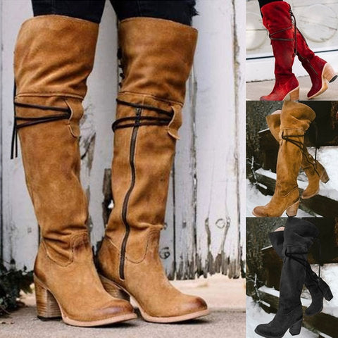 86fd1494a827 Women s Shoes - Women s Fashion Leather Knee High Boots