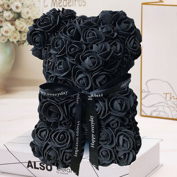 HOT Valentines Day Gift Rose Flower Teddy Bear Decoration