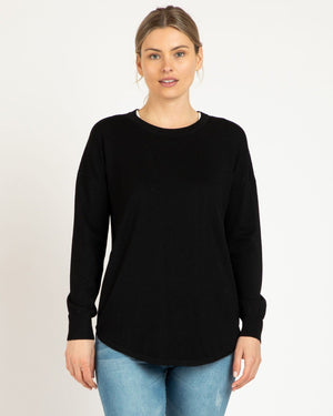 Betty Basics Sophie Knit (Black) Top Envisage Clothing Ltd.