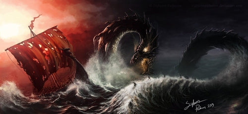 Image of Jormungand Norse Midgard Serpent by SigbjornPedersen on deviantART