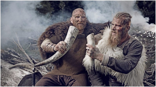 Image of Viking toasting Viking drinking tradition