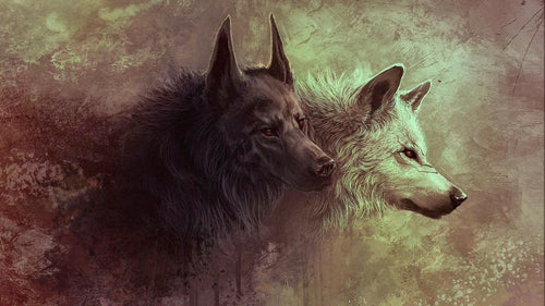Image of Fenrir's children Hati and Skoll