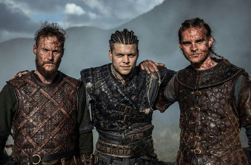 Viking warriors in Vikings TV Series: Ubbe, Ivar, Hvitserk