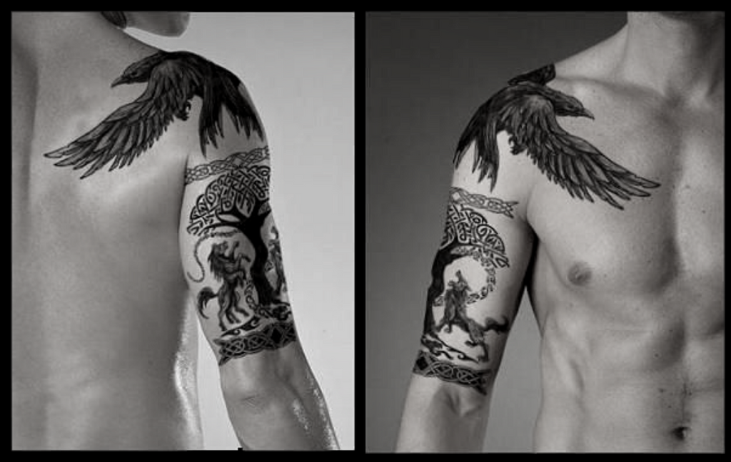 Odin Vs Fenrir Tattoo: 5 Ideas Of Odin's Tattoos For Odin Worshippers