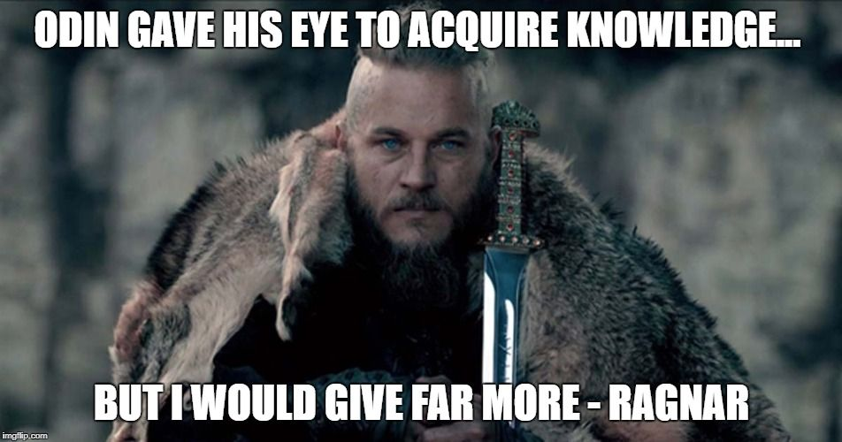 Image of Viking quote Ragnar Lothbrok