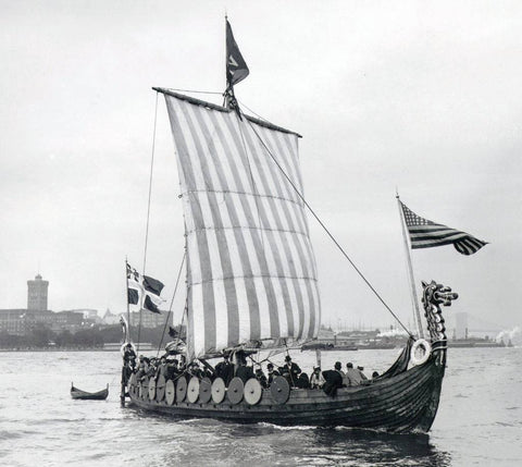 "First Viking ship replica. Her name was ""Viking"", not ravens or something"