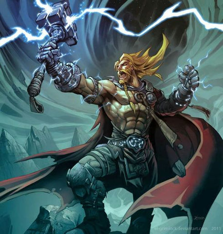 Thor Hammer the Great Mjolnir in Norse mythology