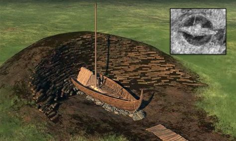 Possible status of the ship inside burial mound