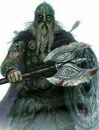 Image of Viking warrior with the double-edged axe