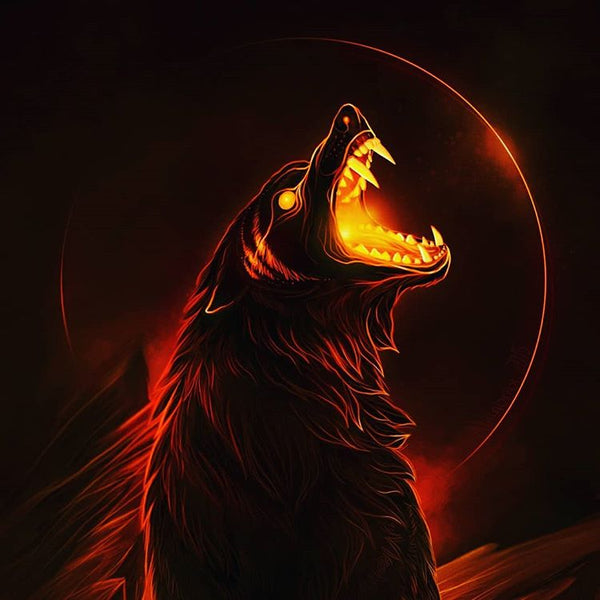 Fenrir the Wolf that was destined to swallow Odin the Allfather