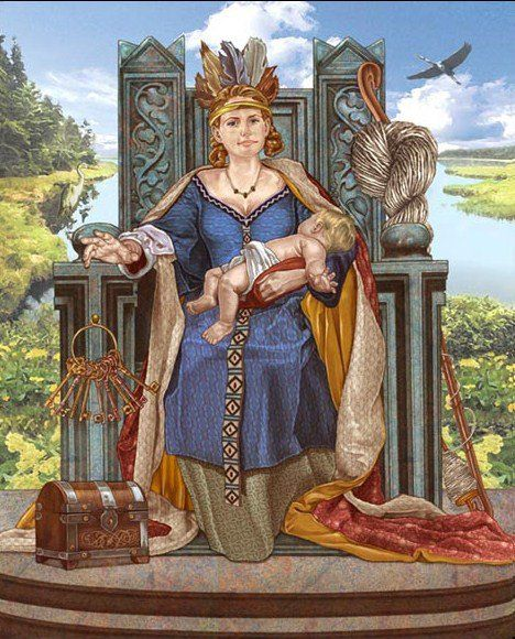 Frigg was the Norse goddess leader who was the goddess of love, family, marriage, and mother in Norse mythology