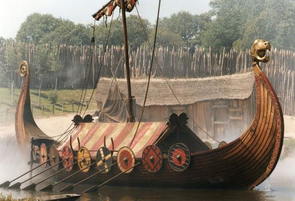 Snekkja ship in Viking Age