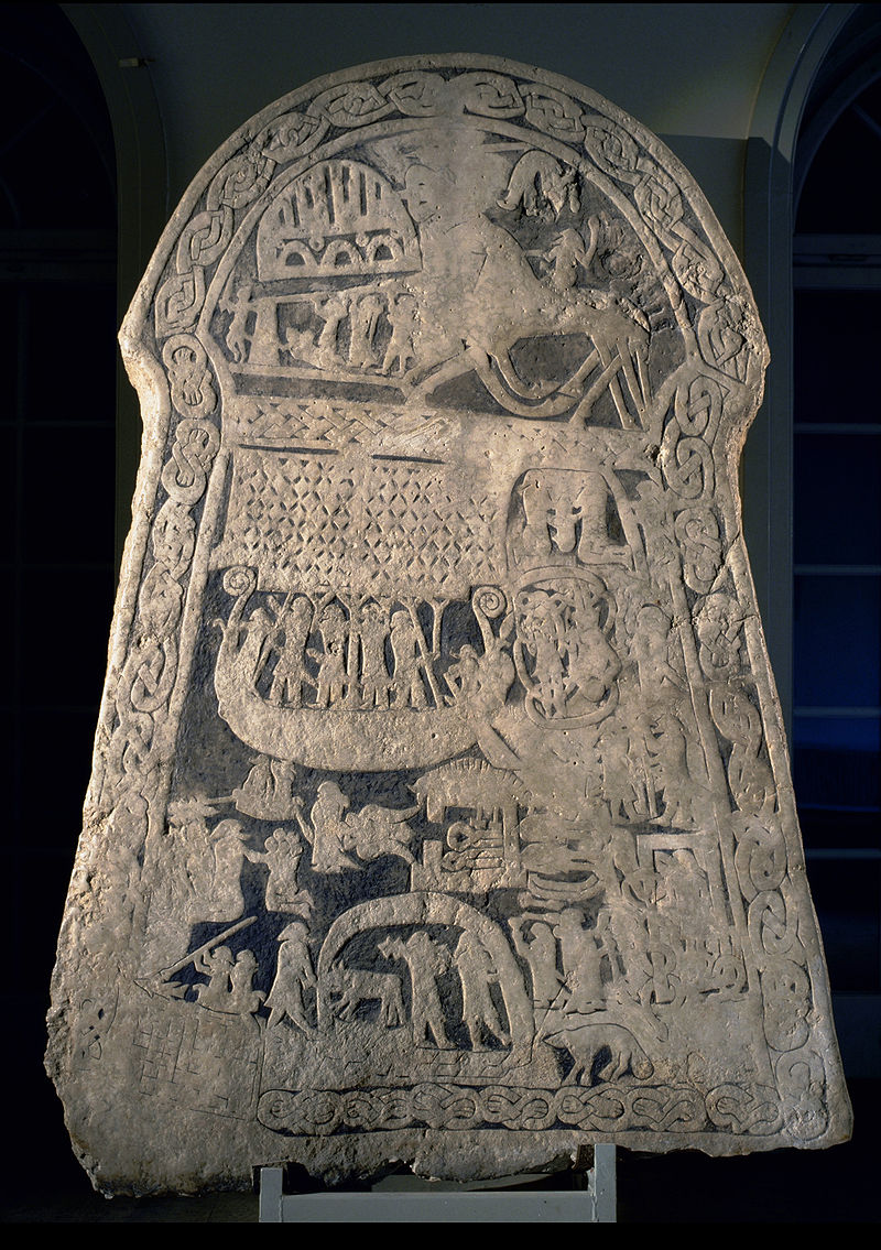 Image of Viking image stone explained Andre VIII