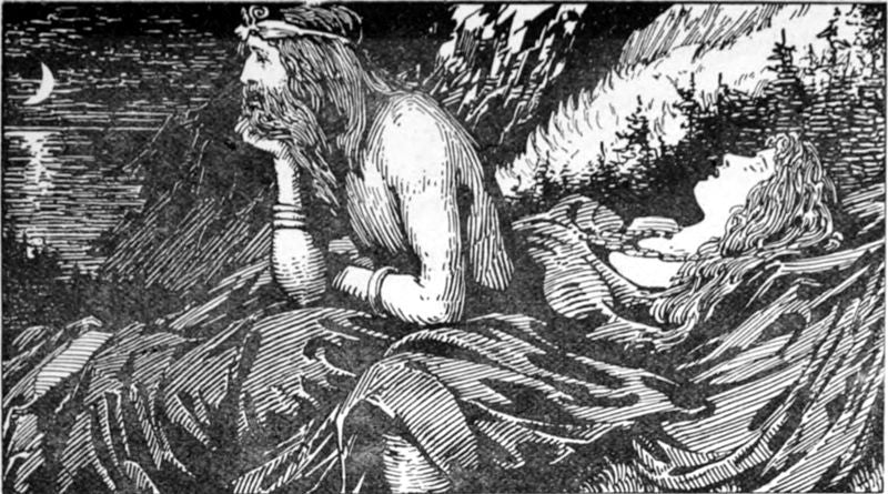Image of Njord and Skadi Norse mythology