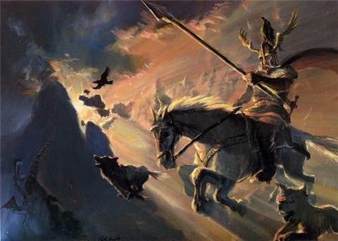 Image of Odin and Sleipnir steed