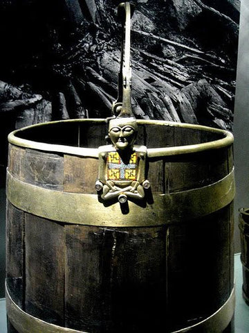 Buddha Bucket in Oseberg excavation Viking great ship burial site