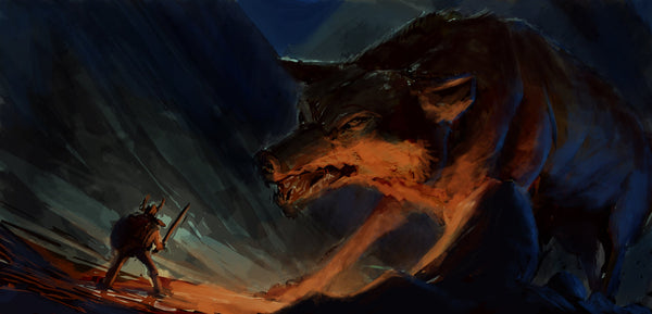 Fenrir the Wolf in Norse mythology