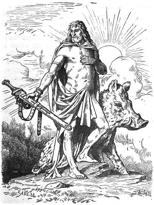 Image if God Frey Norse mythology Viking halloween