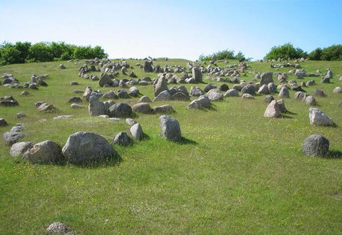 Image of Viking graveyard in Denmark