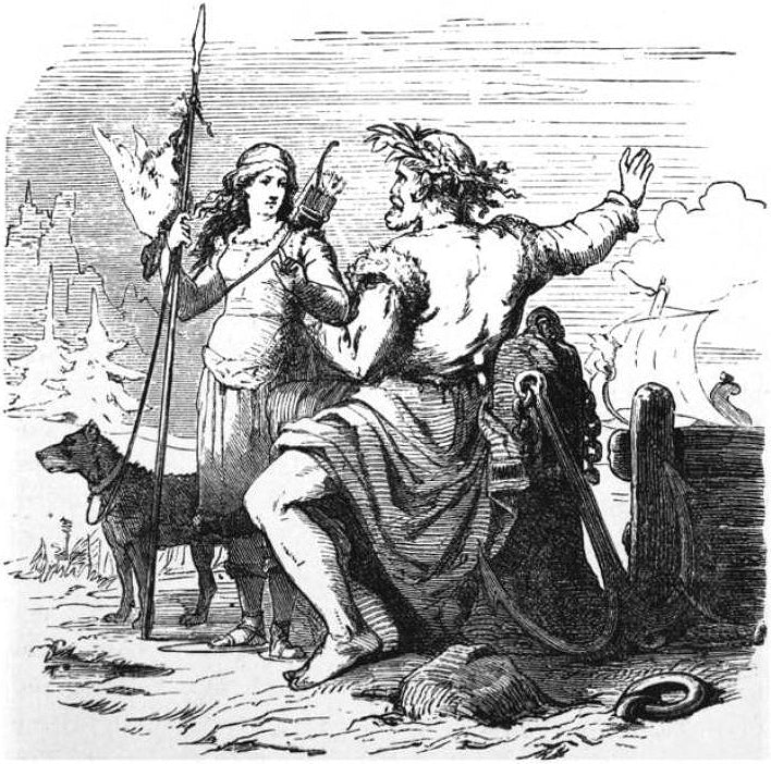 Image of Skadi and Njord