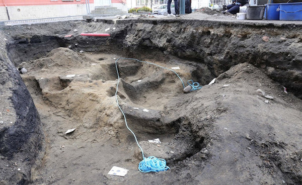 The site in Trondheim where the Viking ship was excavated