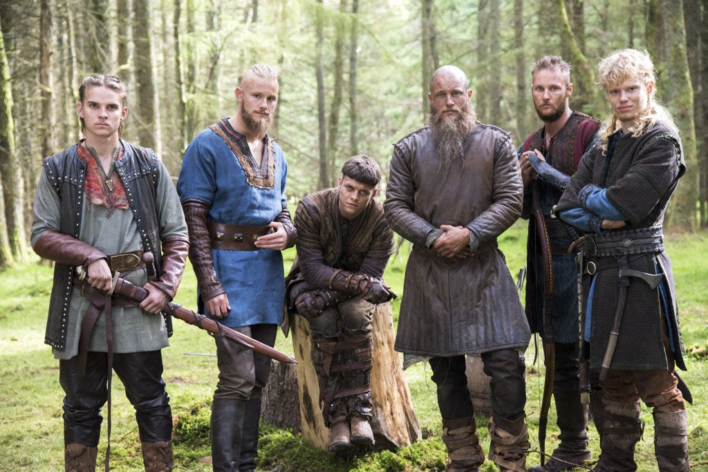 "Ragnar Lothbrok and his sons depicted in ""Vikings"" TV Series"