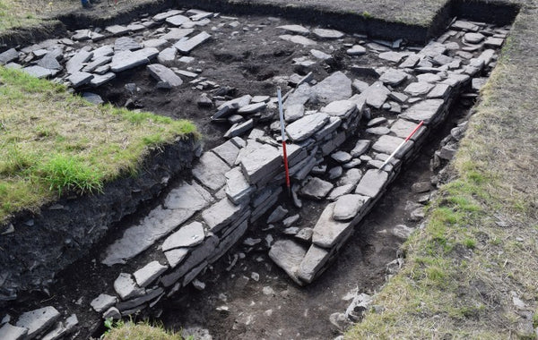The remains of  a Viking building in Skaill