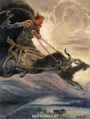 Image of Thor and his chariot