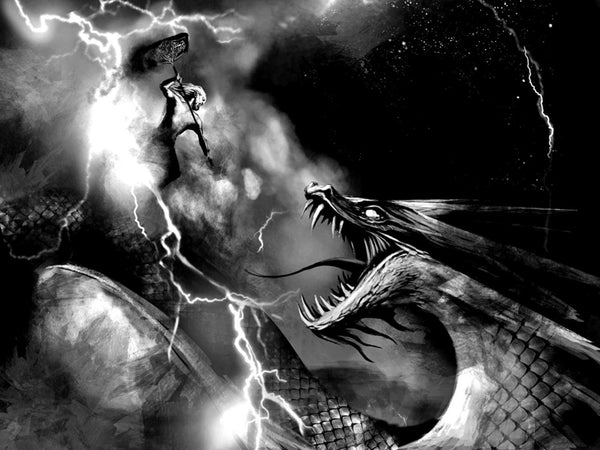 Thor Norse God of Thunder and Storm VS Jormungand the Midgard Serpent
