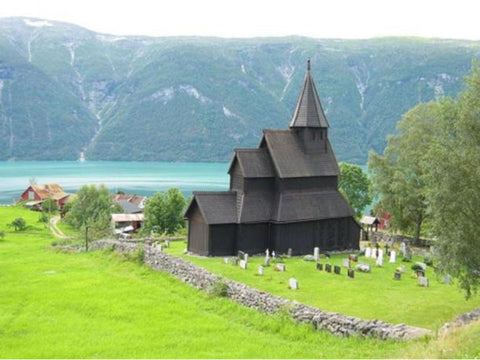 The stave church with the Viking Urnes Style