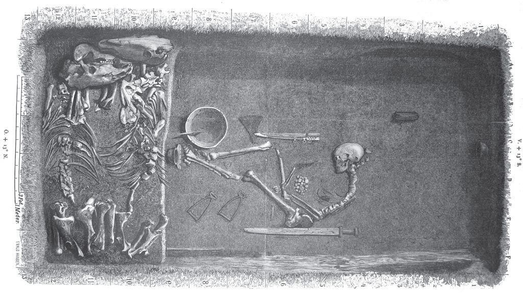 Image of Bj 581 Viking Birka grave of shieldmaiden