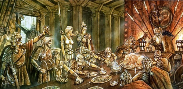 Feast with the gods in Valhalla