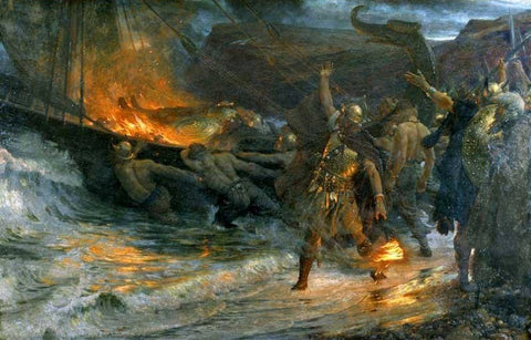 Image of Viking funeral