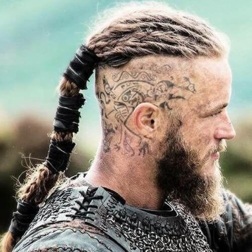 Viking Ragnar Head Tattoo