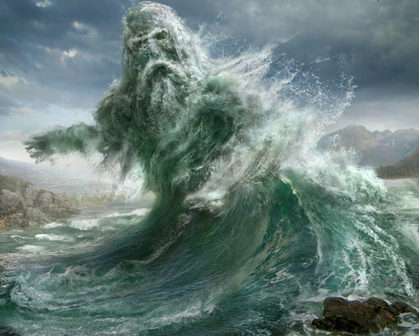 Aegir the giant of ocean in Norse mythology