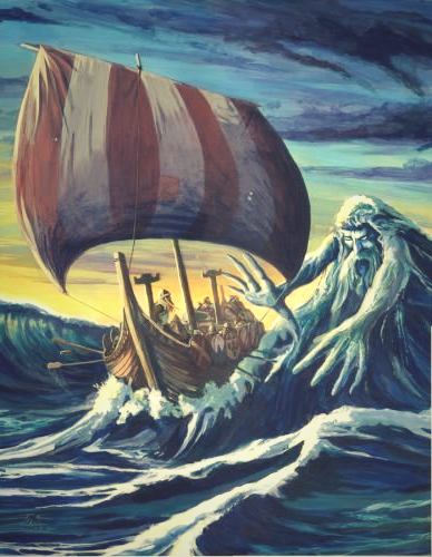 Aegir was the Lord of the Sea for which the Vikings respected him