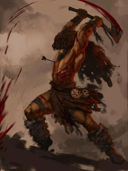 Berserker Viking Berserkers worshipped Odin and joined battle without wearing armours