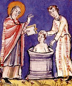 The baptism of the Icelandic inhabitants in the 10th century